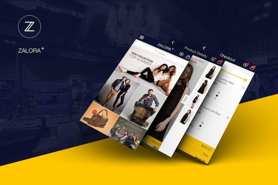 Zalora Plus Shopping UI for e-commerce