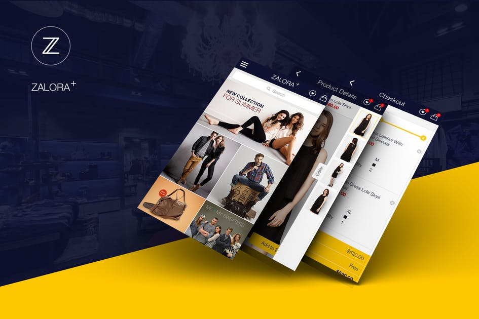 Download Zalora Plus Shopping UI for e-commerce UI Graphic by hoangpts