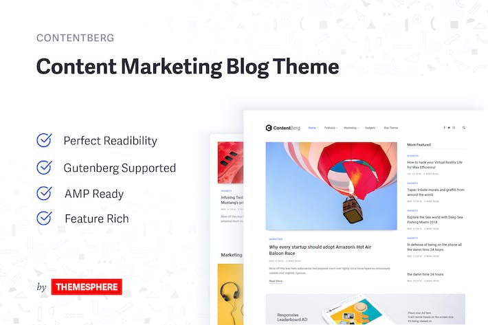 Thumbnail for Contentberg Blog - Content Marketing Blog Theme
