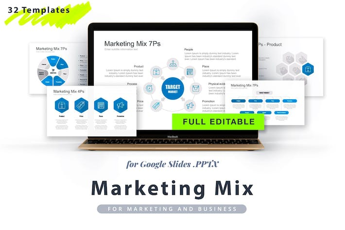 Thumbnail for Marketing Mix Google Slides Template