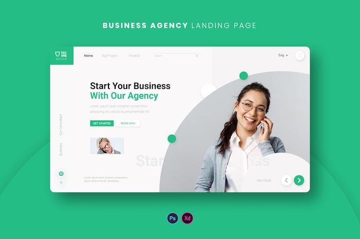 Thumbnail for Business Agency Landing Page