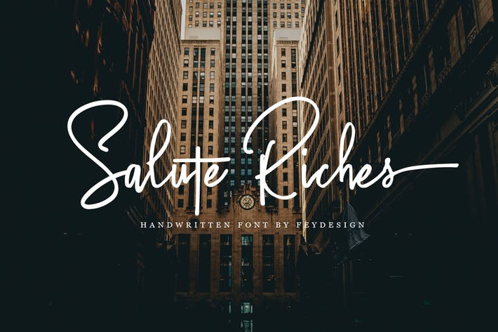 Cover Image For Salute Riches - Handwritten Font