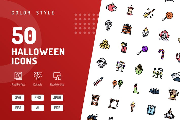 Thumbnail for Halloween Color Icons