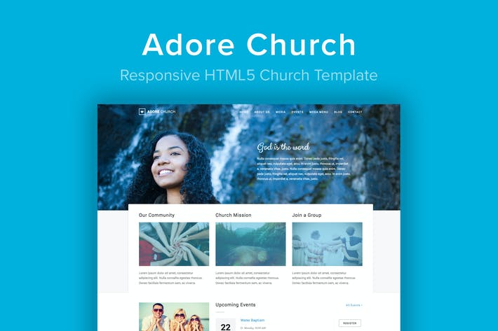 Thumbnail for Adore Church - Responsive HTML5 Template