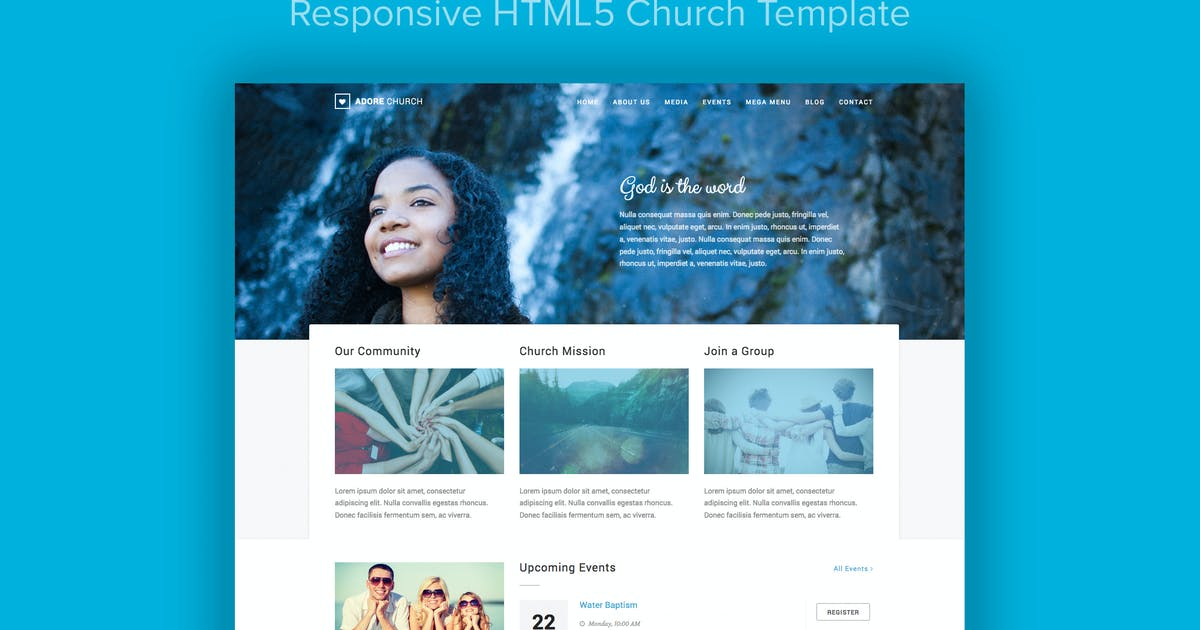 Adore Church - Responsive HTML5 Template by imithemes