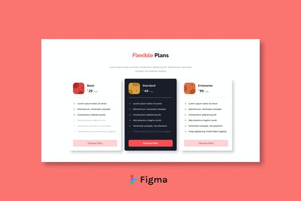 Piccer - Price List Section Design Figma