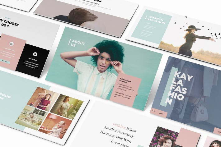 Thumbnail for Kayla Fashion Google Slides Template