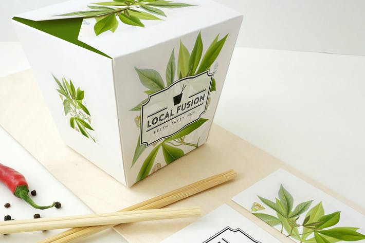 Cover Image For Food Box Mockup