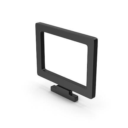 Black Symbol Monitor
