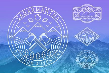 6 Mountaineering Monoline Badge