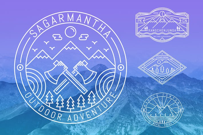 Thumbnail for 6 Mountaineering Monoline Badge