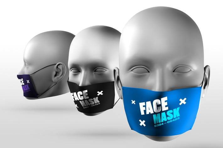 Thumbnail for Face Mask Mockups