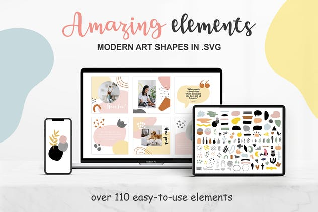 Abstract elements and shape