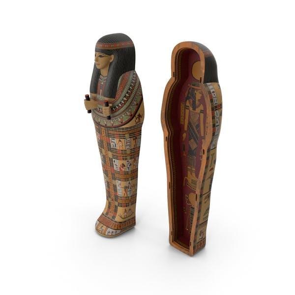 Ägyptischer Sarkophag Gold