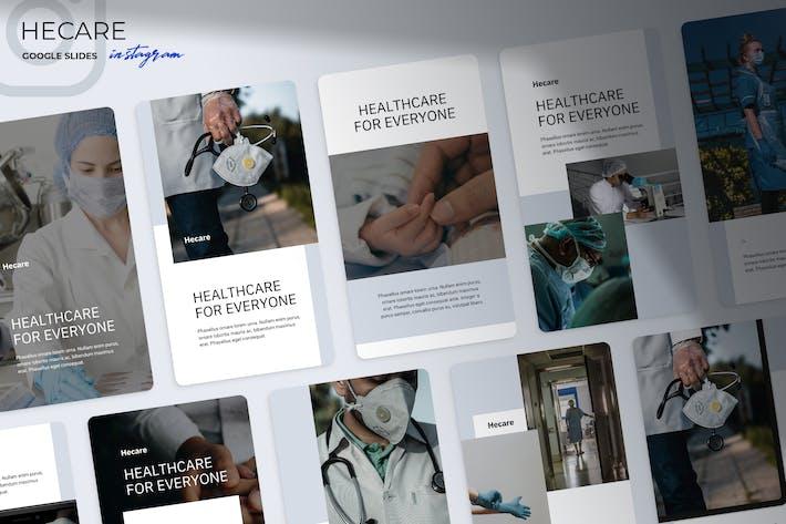 Thumbnail for Hecare - Medical Instagram Google Slides