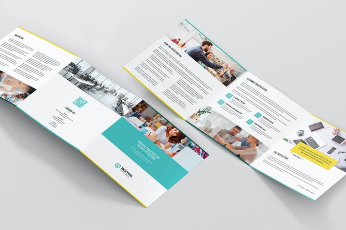 Thumbnail for Brochure – Creative Agency Tri-Fold Square