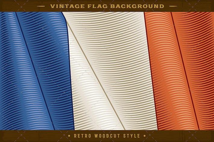Thumbnail for Vintage Flag Of France. Close-up Background