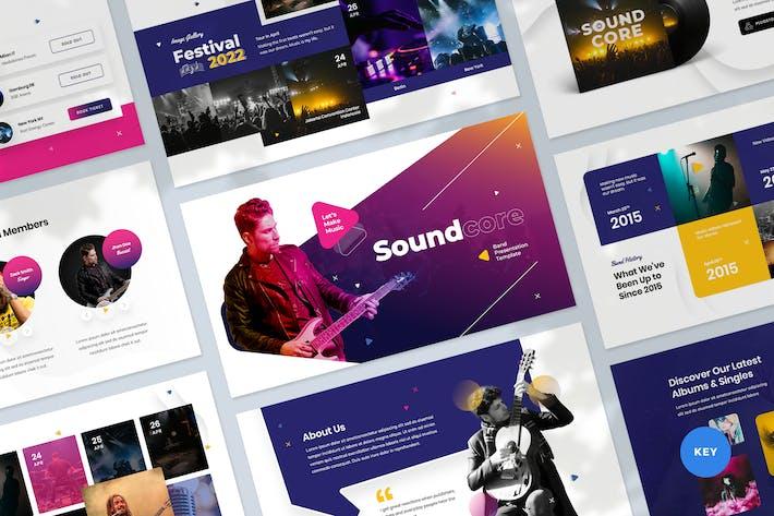 Thumbnail for Шаблон Keynote для презентации музыки и группы