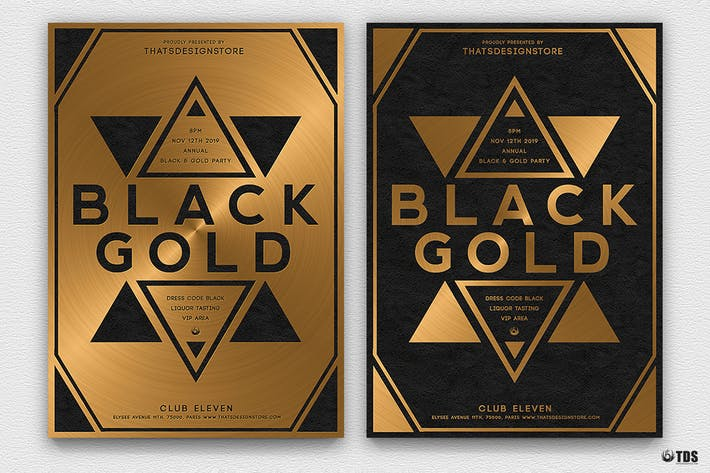 Thumbnail for Minimal Black and Gold Flyer Template V5