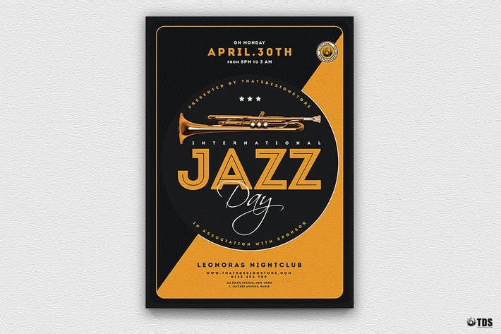 Cover Image For Jazz Day Flyer Template V3