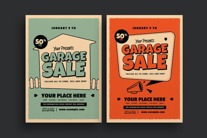 Thumbnail for Retro Garage Sale Event Flyer