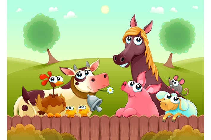 Thumbnail for Farm Animals Smiling Near the Fence