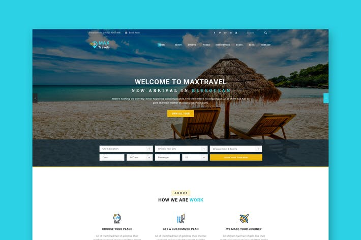 Thumbnail for Travels PSD Template