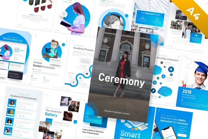 Thumbnail for Ceremony Portrait Education PowerPoint Template