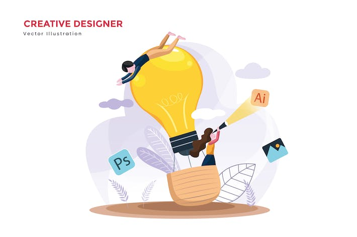 Thumbnail for Creative designer teams vector illustration
