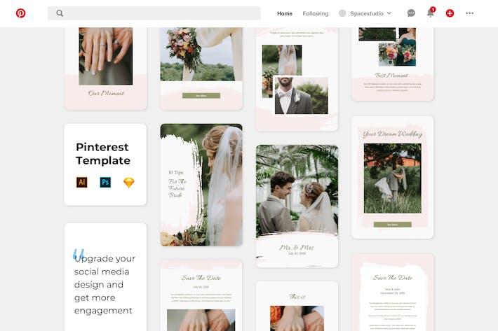 Thumbnail for Wedding Pinterest Template
