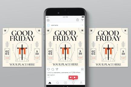 Guter Freitag Veranstaltung Instagram Post