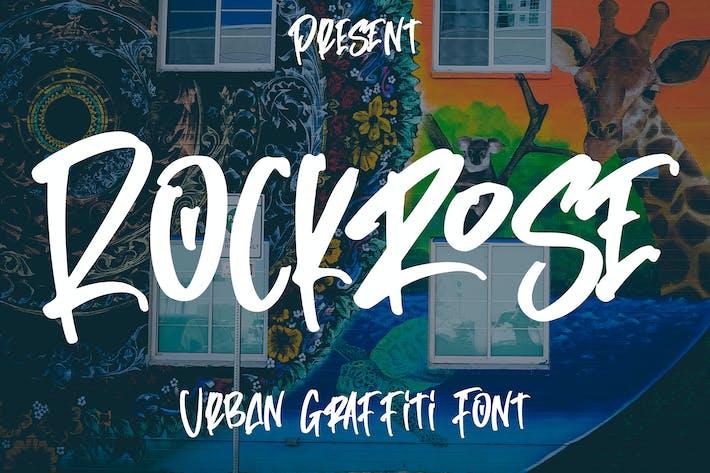 Rockrose - Городской Граффити Шрифт
