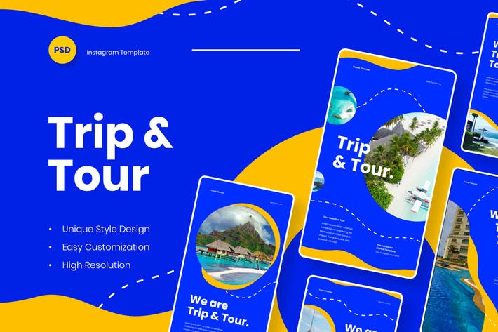Thumbnail for Trip & Tour - Instagram Stories Template