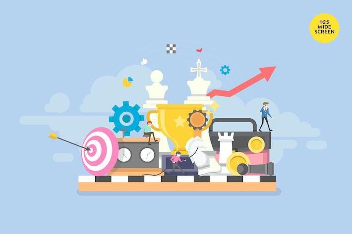 Thumbnail for Smart Business Strategy Vektor konzept
