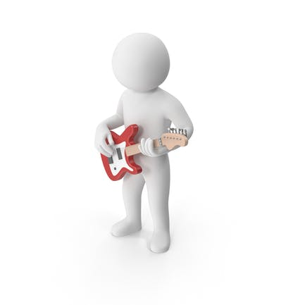 Stickman Playing Guitar