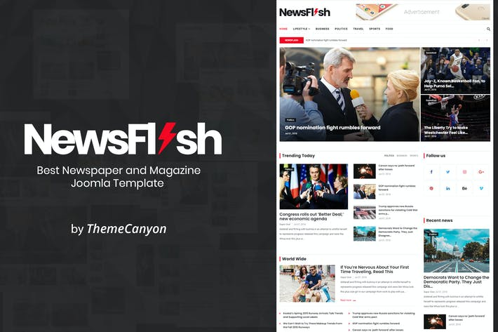 Thumbnail for NewsFlash - Joomla News & Magazine Template