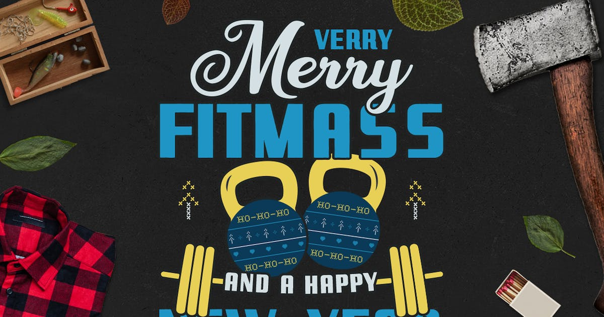 Download Merry Fitmass, Happy New Year Tshirt, Xmas Design by JeksonJS