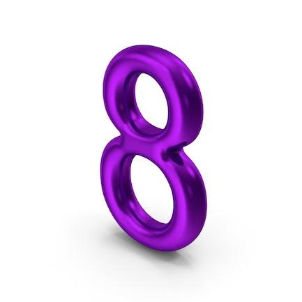 Número 8 Morado Metálico