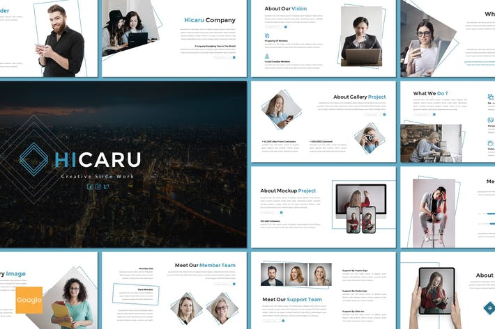 Thumbnail for Hicaru - Business Google Slides Template
