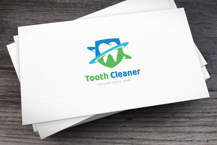 Thumbnail for Tooth Cleaner Logo Template