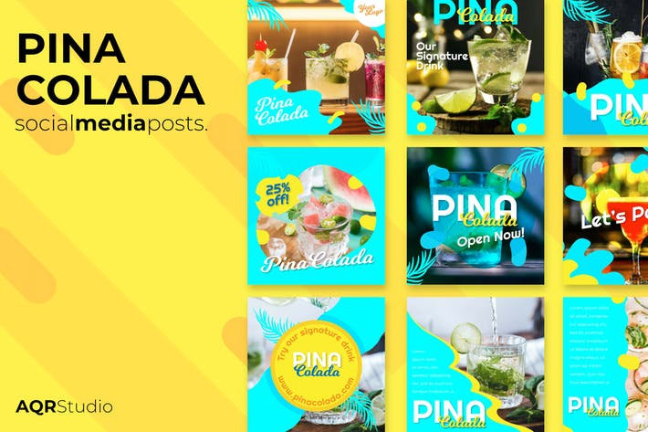 Thumbnail for Pina colada Social Media Posts