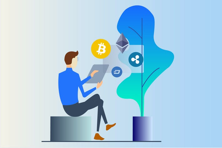 Thumbnail for Cryptocurrency Business 2D Illustration