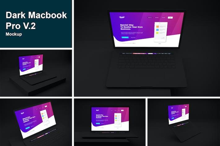Thumbnail for Dark Macbook Pro Mockup V.2