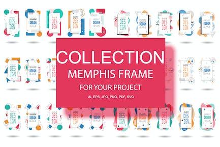 Memphis Frame Hipster Geometric Elements Halftone