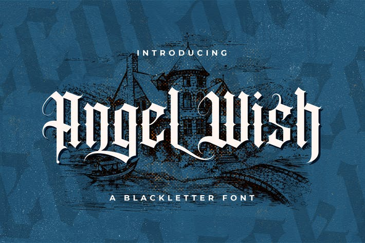 Thumbnail for Angel Wish - Fuente Blackletter
