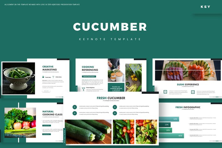 Cover Image For Cucumber - Keynote Template