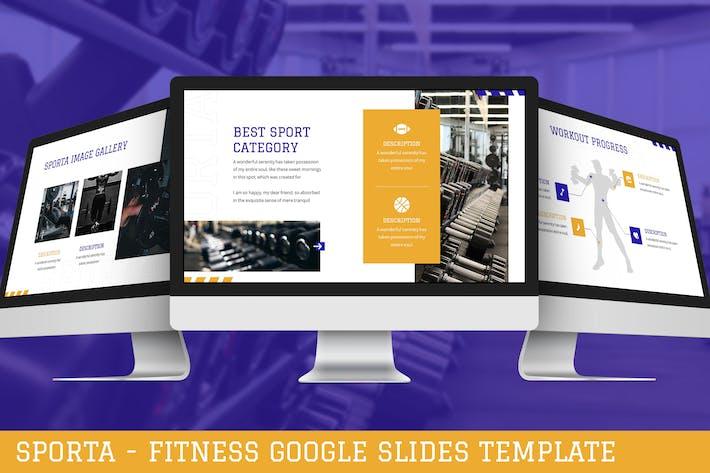 Sporta - Fitness Google Slides Template