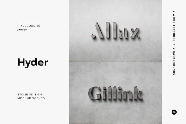 Thumbnail for Stone 3D Sign Mockup Scenes