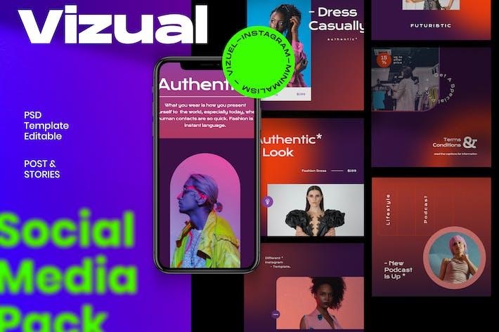 Thumbnail for Vizual - Post & Story Instagram-Vorlage