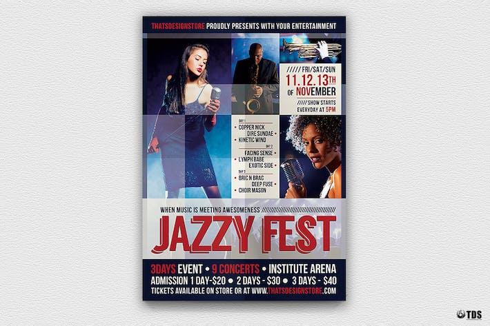 Thumbnail for Jazzy Fest Flyer Template V1